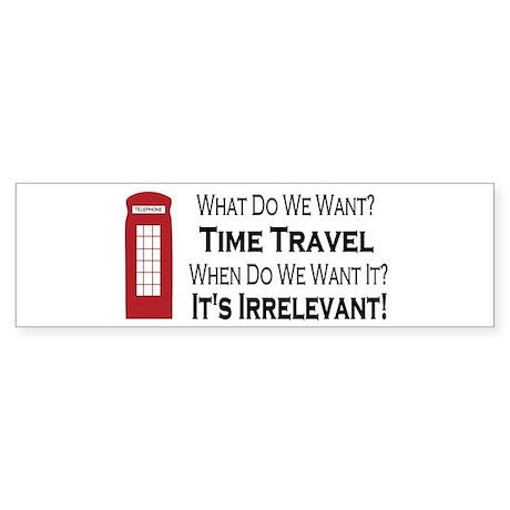 Time Travel Bumper Sticker