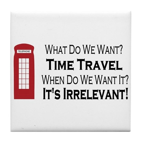 Time Travel Tile Coaster