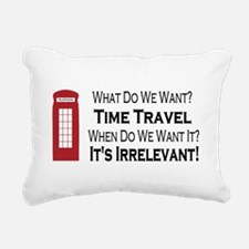 Time Travel Rectangular Canvas Pillow