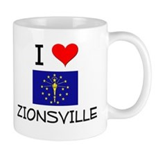 I Love ZIONSVILLE Indiana Mugs
