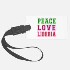 Peace Love Liberia Luggage Tag