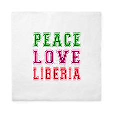 Peace Love Liberia Queen Duvet