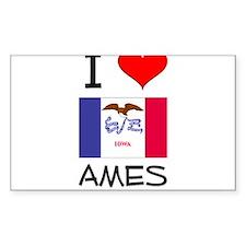 I Love Ames Iowa Stickers