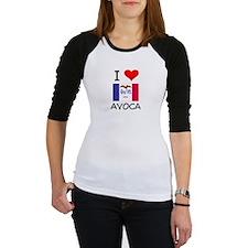 I Love Avoca Iowa Baseball Jersey