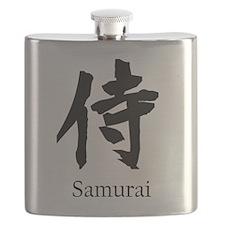 Samurai or Bushi in Japanese Kanji Flask