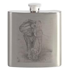African Elephants Flask