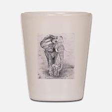 African Elephants Shot Glass