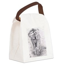 African Elephants Canvas Lunch Bag