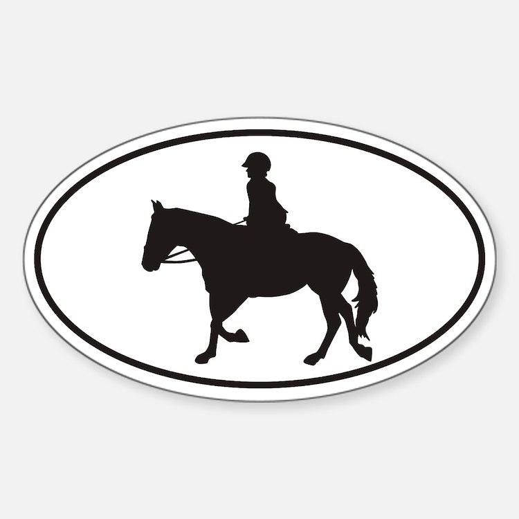 Female English Style_Black Horse Decal
