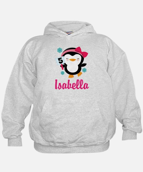 Custom 5th Birthday Penguin Hoodie
