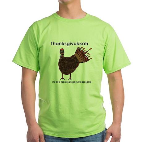 Thanksgivukkah Green T-Shirt