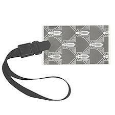 Art Deco Geo Grey Luggage Tag