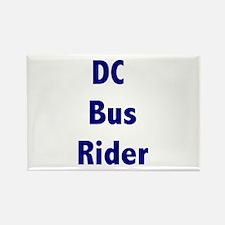 DC Bus Rider Rectangle Magnet