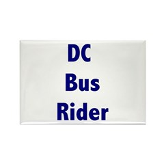DC Bus Rider Rectangle Magnet (100 pack)