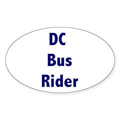 DC Bus Rider Sticker (Oval)