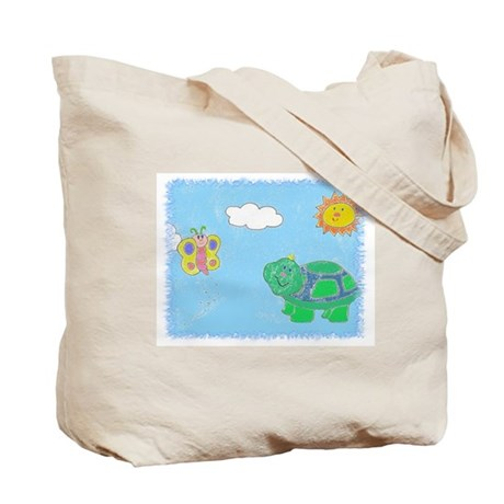 Tote Bag turtle butterfly