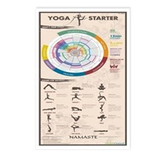 YOGA INFOGRAPHIC Postcards (Package of 8)