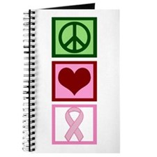 Peace Love Cure (pink) Journal