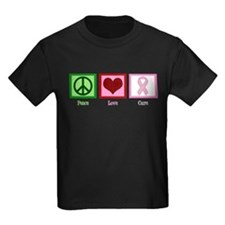 Peace Love Cure (pink) T