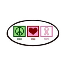 Peace Love Cure (pink) Patches