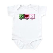 Peace Love Cure (pink) Infant Bodysuit