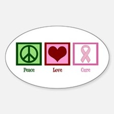 Peace Love Cure (pink) Decal
