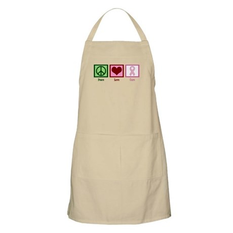 Peace Love Cure (pink) Apron