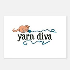 Yarn Diva Postcards (Package of 8)