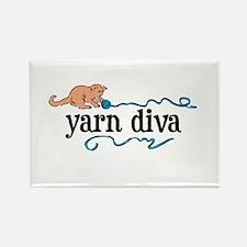 Yarn Diva Rectangle Magnet