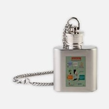 YOGA INFOGRAPHIC Flask Necklace