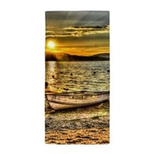 Sun Set over the lake Beach Towel