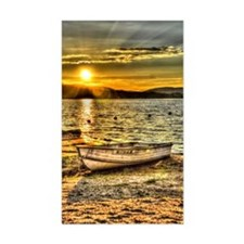 Sun Set over the lake Decal