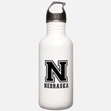 Nebraska State Designs Water Bottle