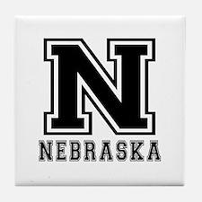 Nebraska State Designs Tile Coaster