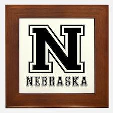 Nebraska State Designs Framed Tile