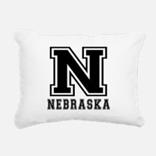 Nebraska State Designs Rectangular Canvas Pillow
