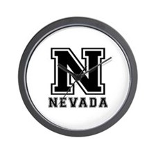 Nevada State Designs Wall Clock
