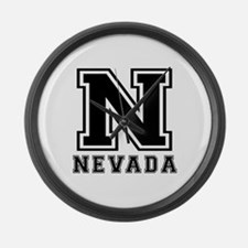 Nevada State Designs Large Wall Clock