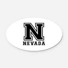 Nevada State Designs Oval Car Magnet