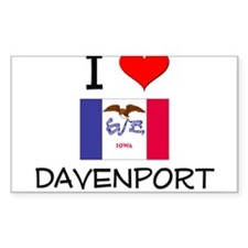 I Love Davenport Iowa Stickers