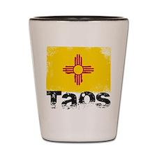 Taos Grunge Flag Shot Glass