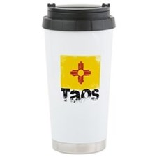 Taos Grunge Flag Travel Mug
