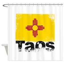 Taos Grunge Flag Shower Curtain
