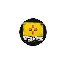 Taos Grunge Flag Mini Button