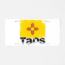 Taos Grunge Flag Aluminum License Plate
