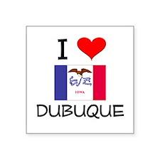 I Love Dubuque Iowa Sticker