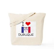 I Love Dubuque Iowa Tote Bag