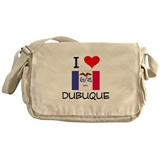 I Love Dubuque Iowa Messenger Bag