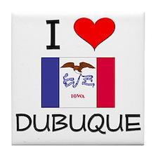 I Love Dubuque Iowa Tile Coaster