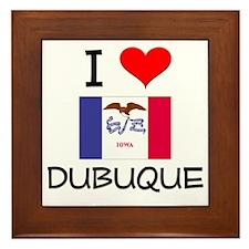 I Love Dubuque Iowa Framed Tile